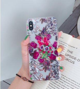 Mobilskal till iPhoneX/XS i vackert mönster med blommor