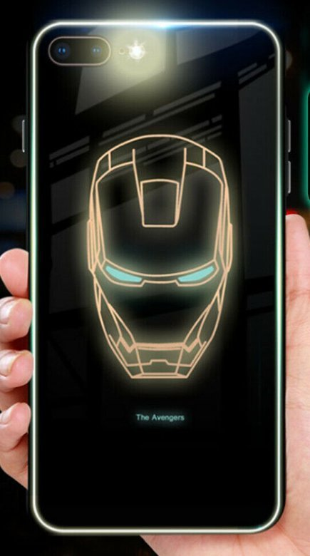 Iphone X/XS case ultra slim fashion luminous in the dark robot