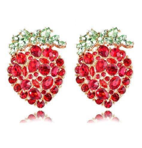 Örhänge earring guld jewelry diamond red stones
