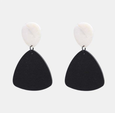 Örhänge earring guld jewelry diamond stone black