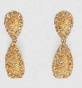 Örhänge earring guld jewelry diamond glass