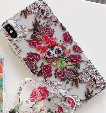 Mobilskal till iPhoneXR i vackert mönster med blommor