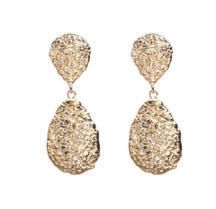 Örhänge earring guld jewelry diamond red drop