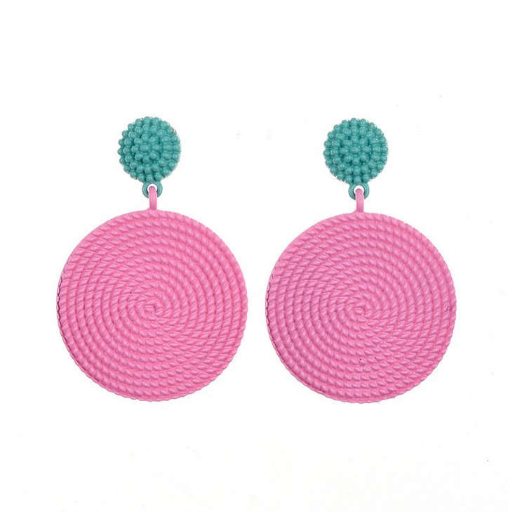 Örhänge earring guld jewelry diamond pink blue