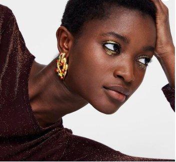 Örhänge earring guld jewelry diamond red green