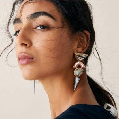 Örhänge earring guld jewelry shapes
