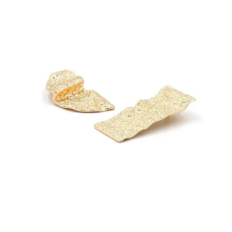 Örhänge earring guld jewelry diamond asymmetris