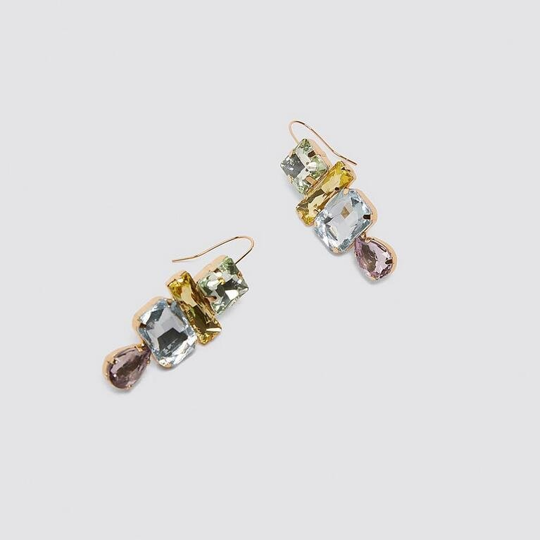 Örhänge earring guld jewelry diamond multicolour