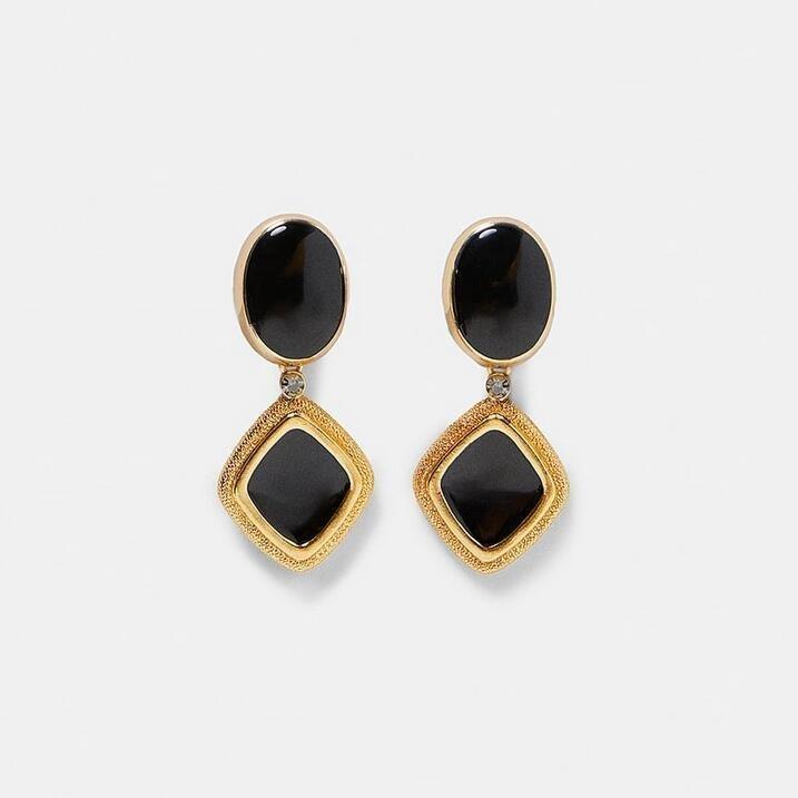 Örhänge earring guld jewelry black unique