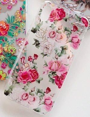 Mobilskal till iPhoneXR i vackert mönster med rosa rosor