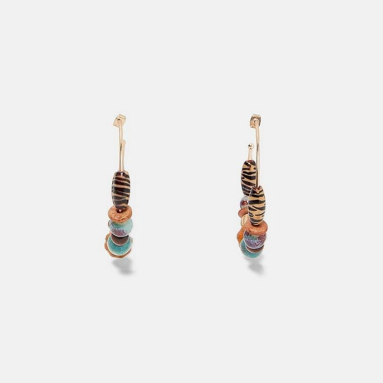 Örhänge earring guld jewelry pearl hoops ringar