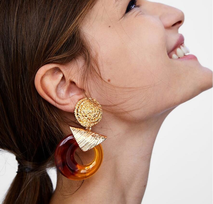 Örhänge earring guld jewelry orange rings hoops