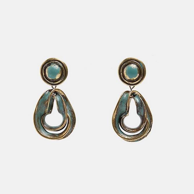Earring guld jewelry diamond shabby chic silver turcouise