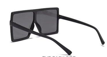 Fyrkantiga oversized solglasgon UV400