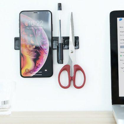 Magisk fler-funktionell mobilhållare med gelé-matta i lim
