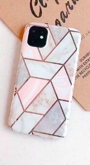 Mobilskal till iPhone11 Pro rosa marmormönster