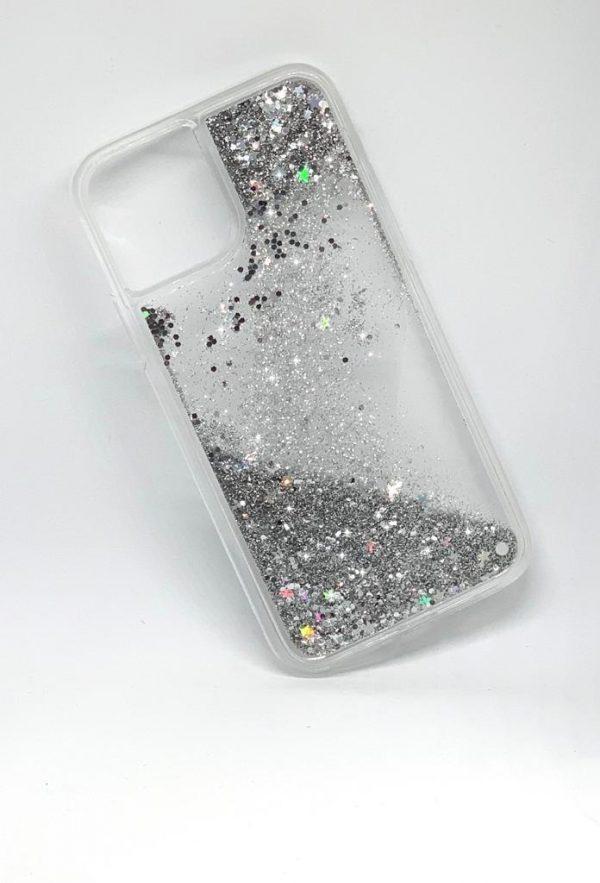 Premium skal till iPhone11 Pro flytande glitter