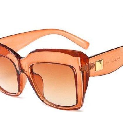 Oversized cateye solglasögon UV400