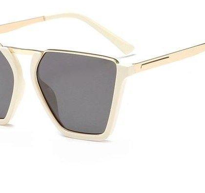 Vintage Half Frame Solglasögon UV400