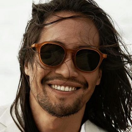Bohemiska Runda Solglasögon för män