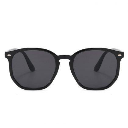 George Clooneys Runda svarta solglasögon för män