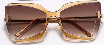 70-tal specialgjorda solglasögon till dam begränsad upplaga Brun