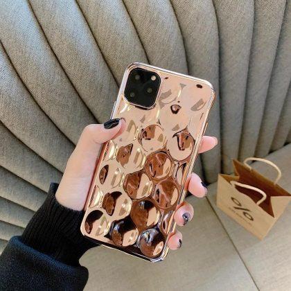 Unika Metall Mobilskal till iPhone11 Roseguld