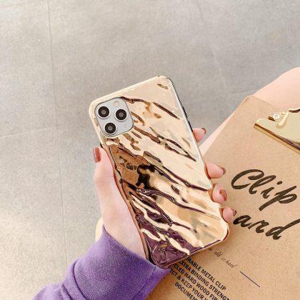 Unika Metall Mobilskal till iPhone11 Pro Silver och Guld
