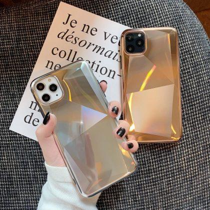 Elektro och glitterpläterat Mobilskal till iPhone11 Pro Guld