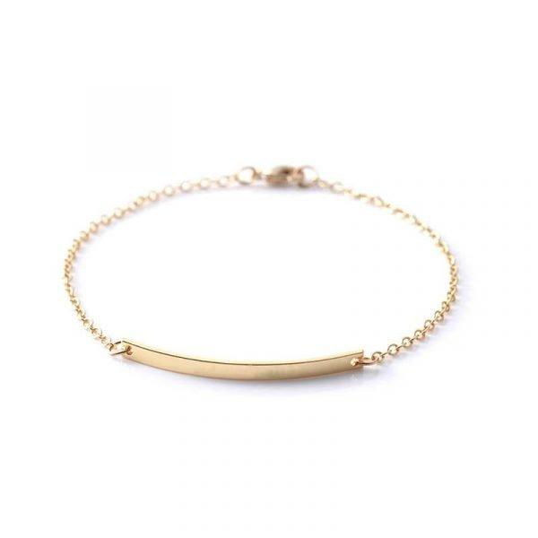 Armband 18K guldpläterad Gåva hjärta