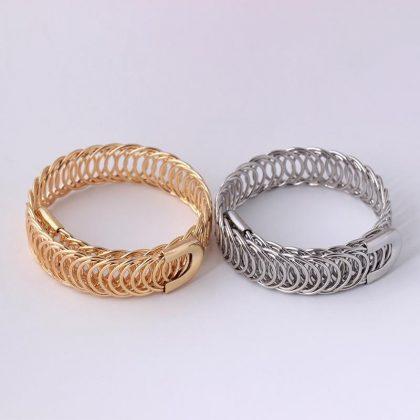 Justerbart brett Guldpläterat armband