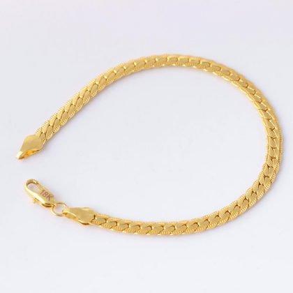 Luksuriøs kæde i 18 karat forgyldning
