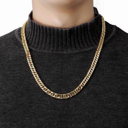 Tung Kedja i guld till män hip hop lyx