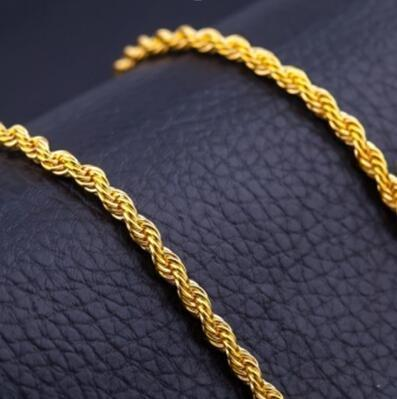 18K guldpläterad snurrad lyxig kedja