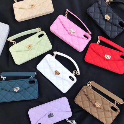 Exklusiv handväska för iPhone 11 Pro med axelrem