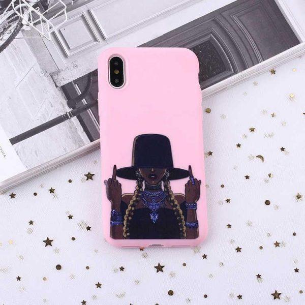 F-you tjej flätor hatt premium kvalitet skal iPhone11