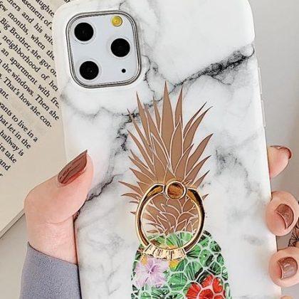 Marmorskal iPhone11 PRO + ananas + ring