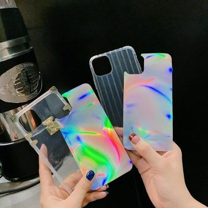 2 i 1 skal för Phone11 Pro med laser neonfärg