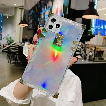 2 i 1 skal för Phone11 med laser neonfärg