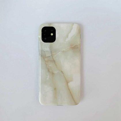 Mobilskal till iPhone 11 Pro Max i naturligt marmormönster