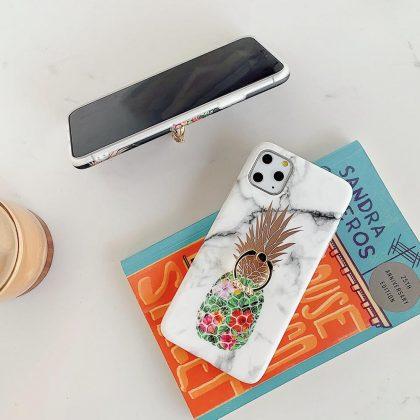 Marmorskal iPhone11 Pro Max + ananas + ring