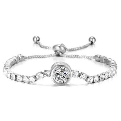 Vackert armband med zircon lyx gåva 18k guldplätering