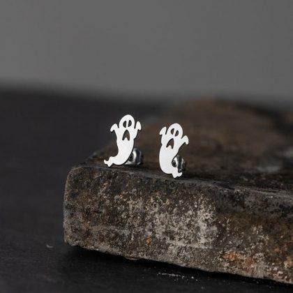 Örhängen spöke halloween guldpläterat silverpläterat
