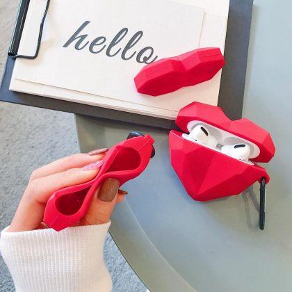 Hjärtformat Stötsäkert Skal till Airpods Pro 3D