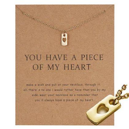 You have a piece of my heart - halsband 18K guldpläterat gåva