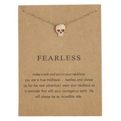 Fearless - halsband 18K guldpläterat gåva