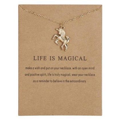 Life is magical - halsband 18K guldpläterat gåva