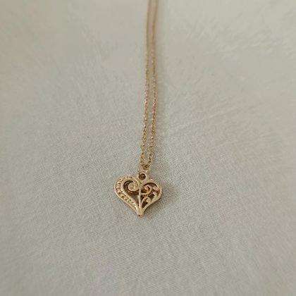 Wish - halsband 18K guldpläterat gåva önskning