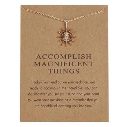 Accomplish Magnificent things - halsband 18K guldpläterat gåva