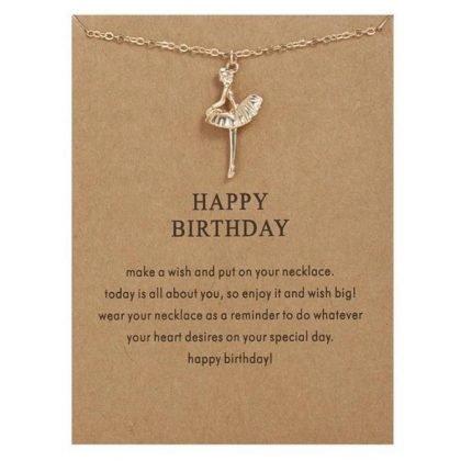 Happy birthday - halsband 18K guldpläterat gåva födelsedag